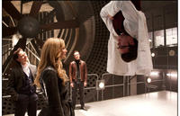 James McAvoy as Charles, Jennifer Lawrence as Raven, Michael Fassbender as Erik and Nicholas Hoult as Dr. Hank McCoy in