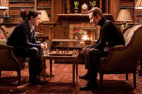Jamers McAvoy as Charles Xavier and Micahel Fassbender as Erik 'Magneto' Lensherr in