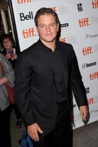 Matt Damon at the Canada premiere of