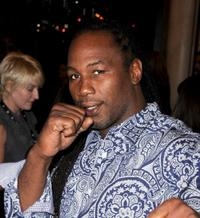 Lennox Lewis at the Canada premiere of
