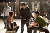 Ken Seng, Sharni Vinson, director Jon M. Chu and Rick Malambri on the set of