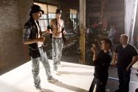 Martin Lombard, Facundo Lombard, director Jon M. Chu and Jeffrey T. Bernstein on the set of