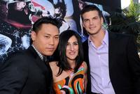 Director Jon M. Chu, producer Jennifer Gibgot and Rick Malambri at the California premiere of