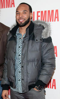 Matt Forte at the Illinois premiere of