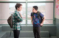 Anton Yelchin as Charley Brewster and Christopher Mintz-Plasse as Evil Ed in