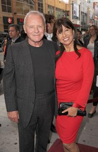 Anthony Hopkins and Stella at the Canada premiere of
