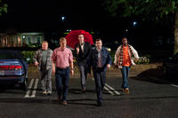 Larry Joe Campbell as Hog-head, Owen Wilson as Rick, Stephen Merchant as Gary, Jason Sudeikis as Fred and J.B. Smoove as Flats in