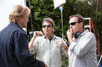 Owen Wilson, Writer/director/producer Bobby Farrelly and Writer/director/producer Peter Farrelly on the set of