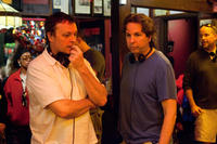 Bobby Farrelly and Peter Farrelly on the set of