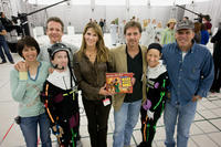 Wendy Wells, Simon Wells, Seth Green, Jodie Breathed, Berkeley Breathed, Mindy Sterling and Jack Rapke on the set of