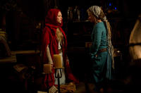 """Amanda Seyfried as Valerie and Julie Christie as Grandmother in """"Red Riding Hood."""""""