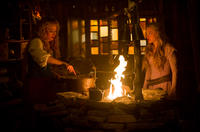 """Virginia Madsen as Suzette and Amanda Seyfried as Valerie in """"Red Riding Hood."""""""