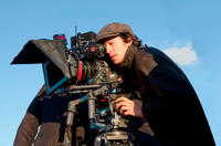 Director Cary Joji Fukunaga on the set of