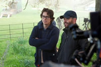 Director Cary Joji Fukunaga and cinematographer Adriano Goldman on the set of