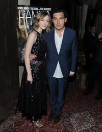 Saoirse Ronan and director Joe Wright at the after party of the New York screening of