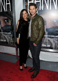 Rebecca Gleeson and Eric Bana at the after party of the New York screening of