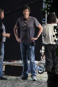 Director Paul W.S. Anderson on the set of