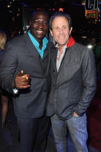 Adewale Akinnuoye-Agbaje and producer Marc Abraham at the California premiere of