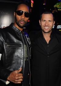 Rapper RZA and producer Eric Newman at the California premiere of