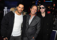Eli Roth, producer Marc Abraham and musician Marilyn Manson at the California premiere of