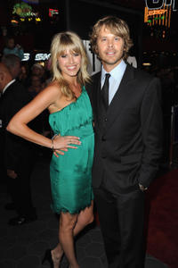 Sarah Wright and Eric Christian Olsen at the California premiere of