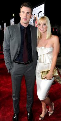 Chris Evans and Anna Faris at the California premiere of