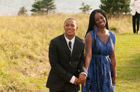 Romeo Miller as Sebastian and Tasha Smith as Shonda in