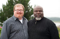 Producers Curtis Wallace and TD Jakes on the set of