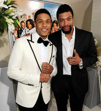 Pooch Hall and Deray Davis at the California premiere of