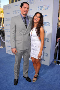 Steve Howey and Sarah Shahi at the premiere of