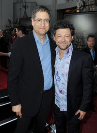 CEO/Chairman, Fox Filmed Entertainment Tom Rothman and Andy Serkis at the California premiere of