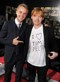 Tom Felton and Rupert Grint at the California premiere of