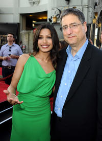 Freida Pinto and CEO/Chairman, Fox Filmed Entertainment Tom Rothman at the California premiere of