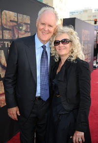 John Lithgow and Mary Yeager at the California premiere of