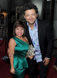Devyn Dalton and Andy Serkis at the California premiere of