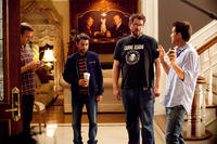 Jason Sudeikis , Charlie Day, Director Seth Gordon and Jason Bateman on set of