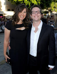 Megan Wolpert and director David Dobkin at the California premiere of