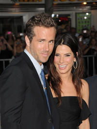 Ryan Reynolds and Sandra Bullock at the California premiere of