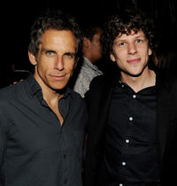 Producer Ben Stiller and Jesse Eisenberg at the California premiere of