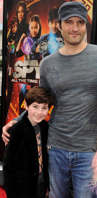 Mason Cook and director Robert Rodriguez at the California premiere of