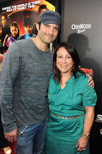Director Robert Rodriguez and producer Elizabeth Avellan at the California premiere of