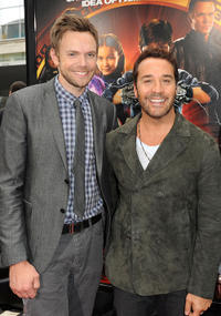 Joel McHale and Jeremy Piven at the California premiere of