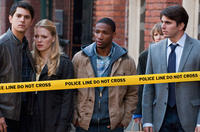 Nicholas D'agosto as Sam, Emma Bell as Molly, Arlen Escarpeta as Nathan and Miles Fisher as Peter in
