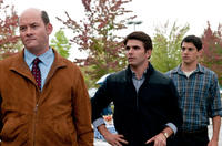 David Koechner as Dennis, Miles Fisher as Peter and Nicholas D'agosto as Sam in