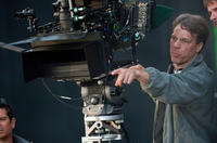 Director Steven Quale on the set of