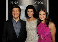 Director Steven Quale, Jacqueline MacInnes-Wood and Ellen Wroe at the California premiere of