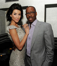 Jacqueline MacInnes-Wood and Courtney Vance at the California premiere of