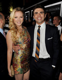Emma Bell and Miles Fisher at the California premiere of