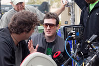 Director Todd Lincoln on the set of