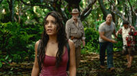 Vanessa Hudgens as Kailani, Michael Caine as Alexander, Dwayne Johnson as Hank and Luis Guzman as Gabato in